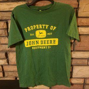 John Deere Shirt MEDIUM Green Property Of Graphics